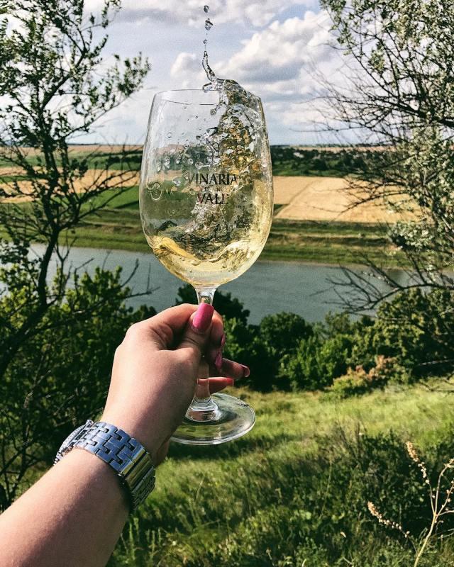 pahar de vin creativ